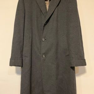 Savile Row Charcoal Grey Wool Cashmere Overcoat